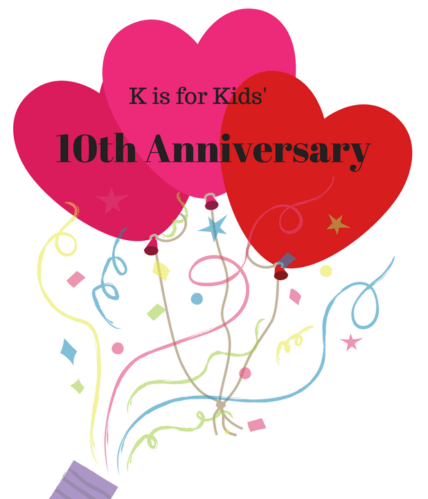 k is for kids celebrates 10th birthday with holiday book drive k