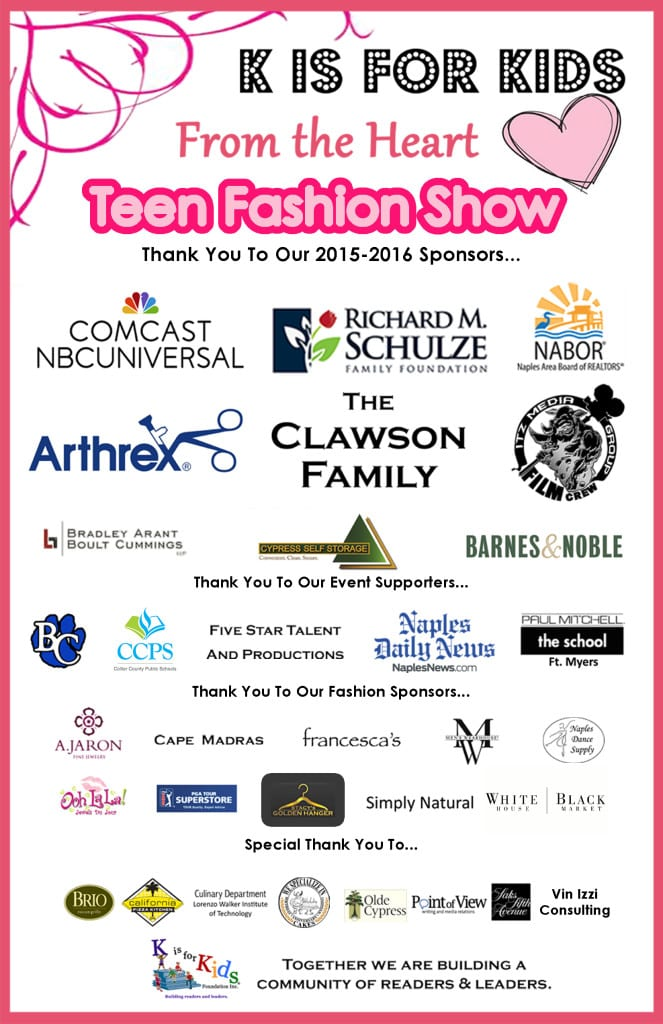 5.5x8.5 Sponsor Poster Teen Fashion Show 2016