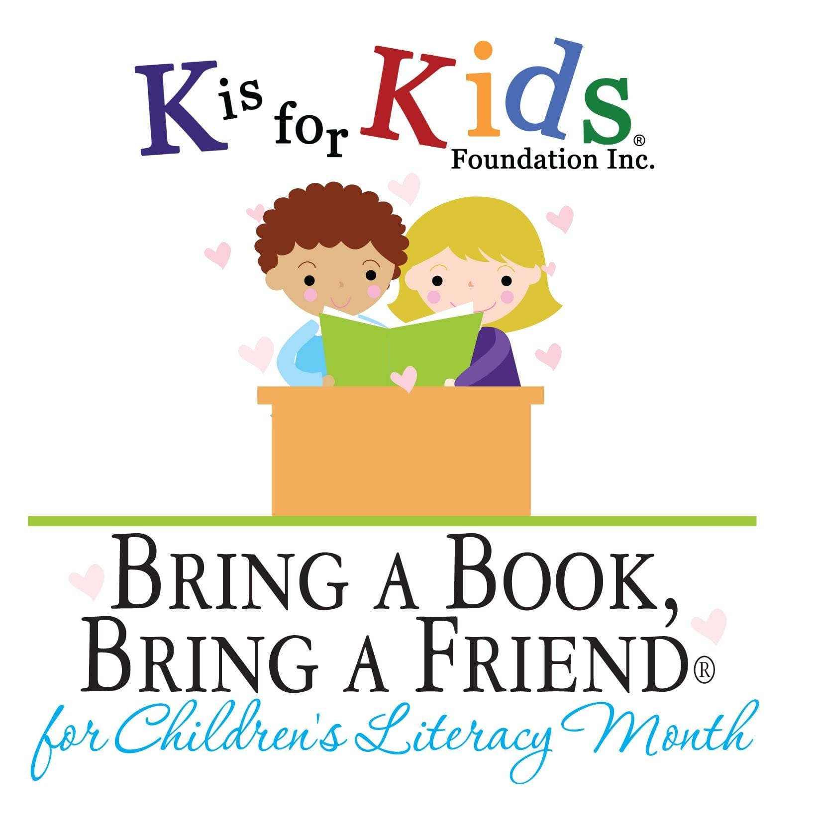 bring a book bring a friend month k is for kids foundation