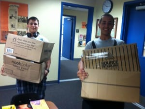 k4kids_LHS_2BoysBringInBoxesOfBooks