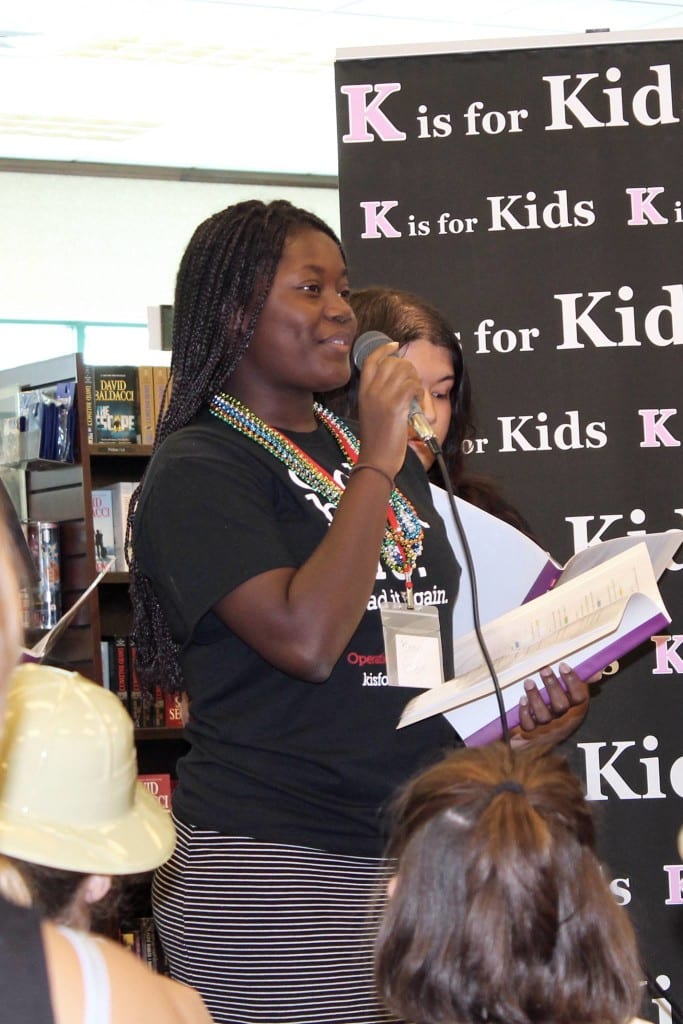 Bree Gelin speaks to guests attending the 8th annual Kids Celebrate Reading Book Fair at Barnes & Noble at the Waterside Shops in Naples.