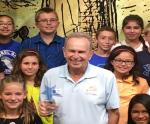 Mayor Bill Barnett Receives Shining Star Award; Greets Top Readers from Laurel Oak Elementary
