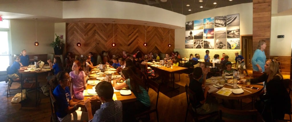 LOE CPK Panorama of dining area full with honorees