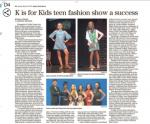 "K is for Kids ""From the Heart"" Teen Fashion Show A Success!"